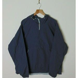LL Bean 2xl Windbreaker Rain Jacket Gray ½ Zip